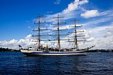Vacation travel - White Frigate on Neva River, picture #411