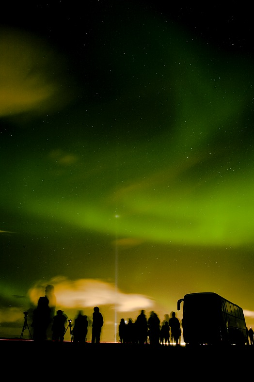 Iceland tourism. Aurora Borealis - Northern Lights. Iceland tours.
