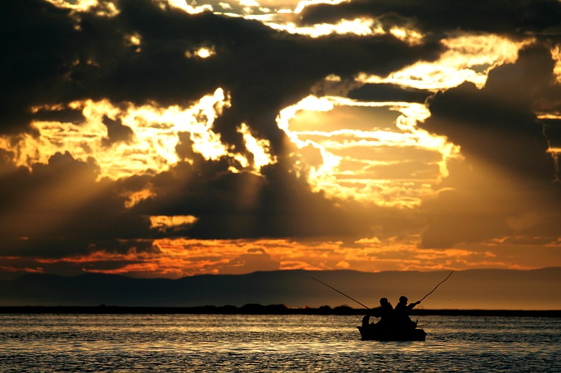 Baikal lake fishing - vacation travel photos