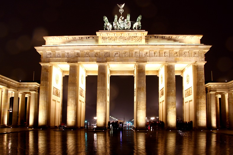 Berlin trip. The Brandenburg Gate in Berlin. Germany travel.