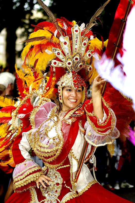 Brazilian Carnival. A very nice Brazilian carnival dancer at Rio de Janeiro. Brazil travel - vacation travel photos