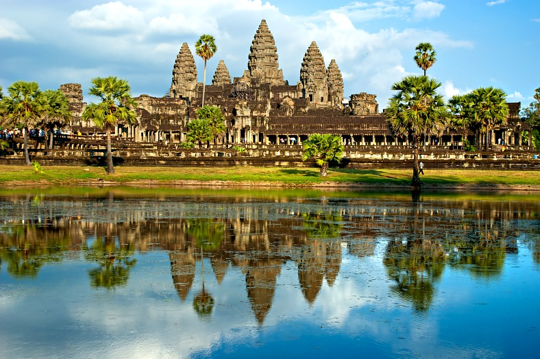 Cambodia travel. Angkor Wat Temple, Siem reap. Cambodia tourism.