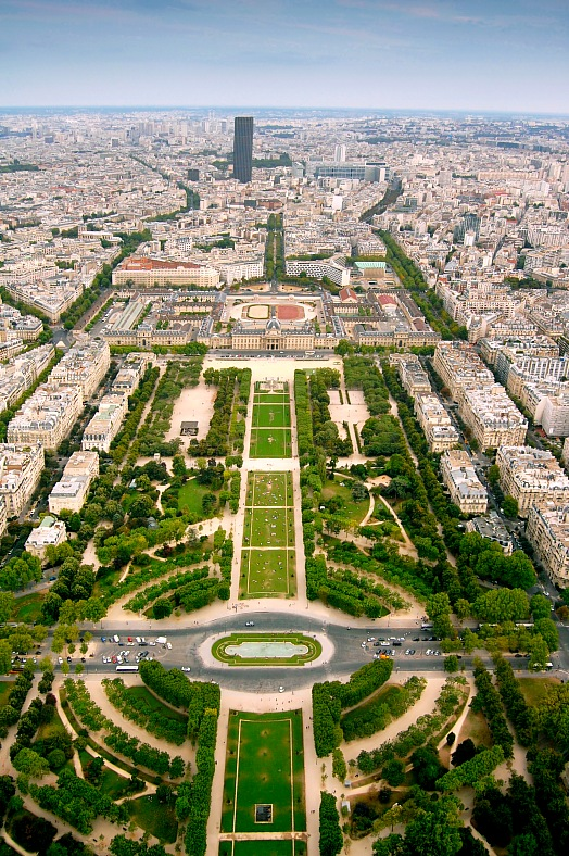 Champ-de-Mars view from Eifell tower.