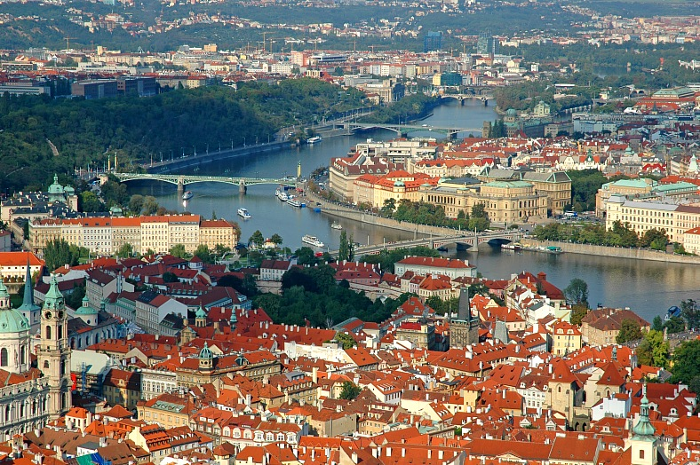 Cityscape, old Prague - vacation travel photos
