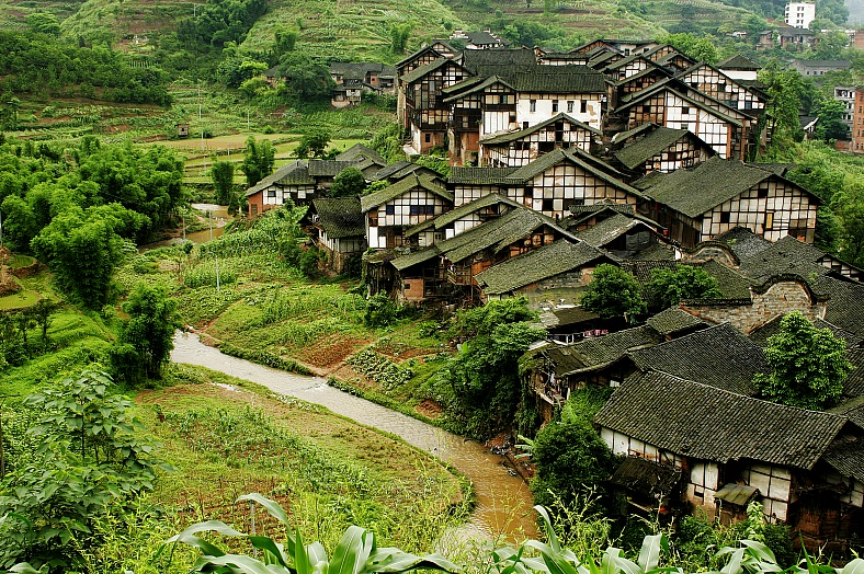 Fubao village, Sichuan, China - vacation travel photos