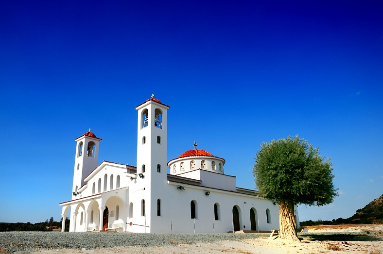 Vacation Cyprus. Small orthodox church somewhere on Cyprus. Tours to Greece.
