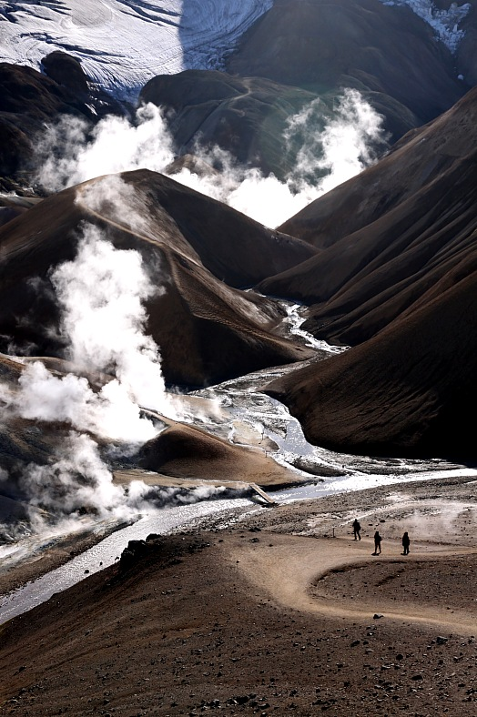 Iceland tourism. Valley in the Kerlingarfjoll area with geothermal activity - Iceland tours.