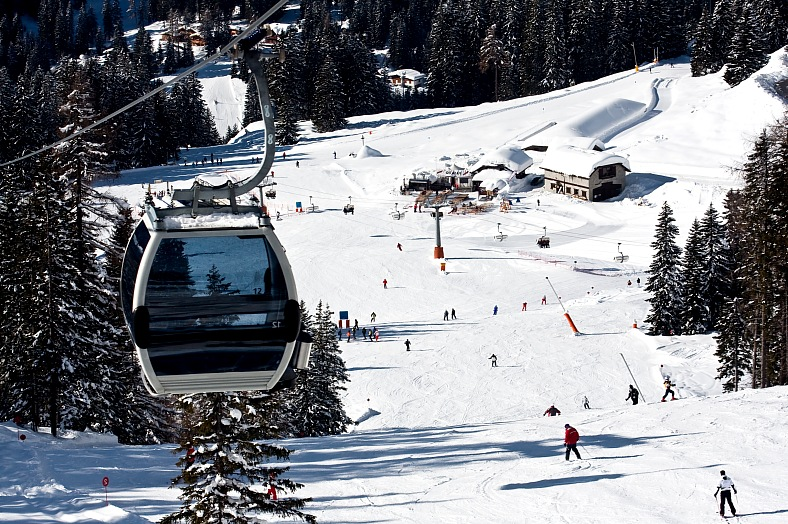 Travel Italy. Ski resort Madonna di Campiglio. Italy vacations.
