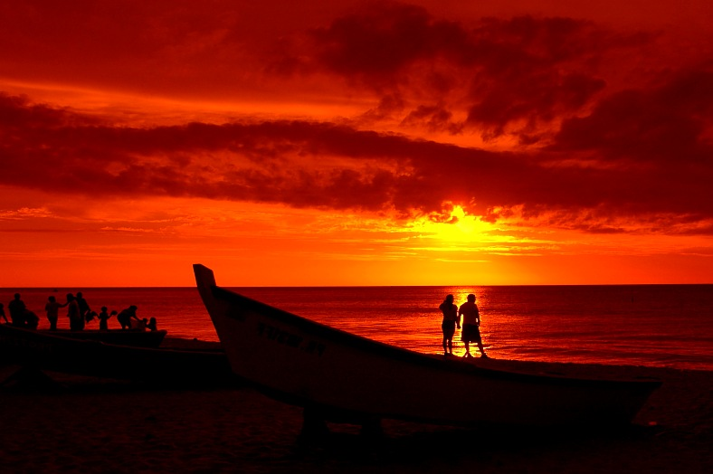 Puerto Rico vacations. People watching the sunset. Sunset lovers. Puerto Rico resorts.