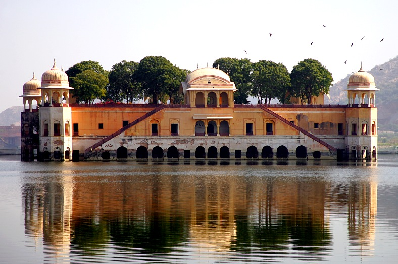 India tours. Water palace in Jaipur, Rajasthan. India tourism.