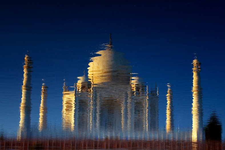 Taj Mahal reflection, India - vacation travel photos