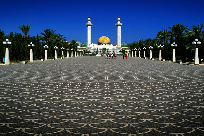 Africa tours. Tunisian city Monastir and mausoleum. Africa travel - vacation travel photos