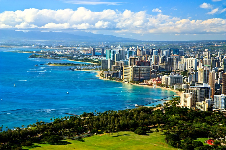 Waikiki Beach Hotels. Hawaii travel - vacation travel photos