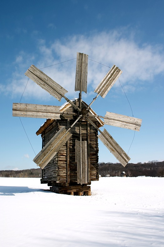 Wooden windmill - vacation travel photos