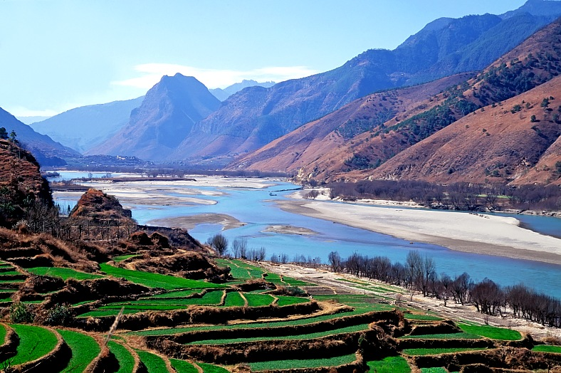 China tourism. The first turn of Yangtze River. Travel China.