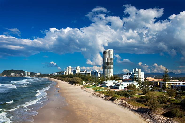 Travel Gold Coast. Highview of Gold Coast beach. Australia travel, Gold Coast tours